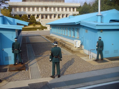 Joint Security Area of DMZ between North and South Korea